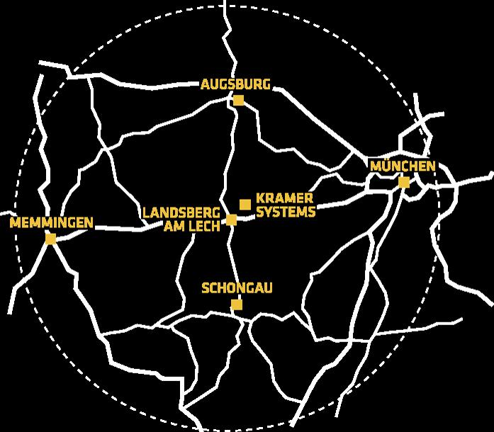 Karte Niederlassungen Kramer Systems GmbH